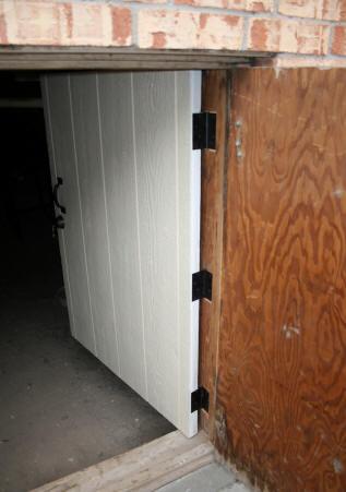 Laurel S Adventures In Home Repair Crawl Space Door And