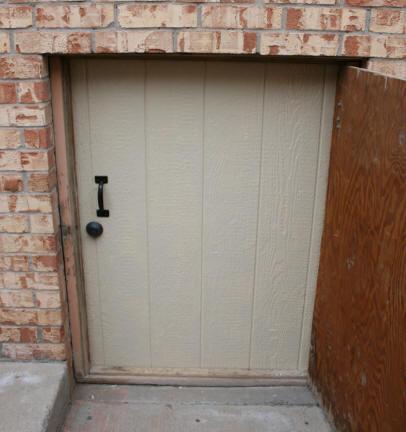 New Door Installed On Crawl Space Opening