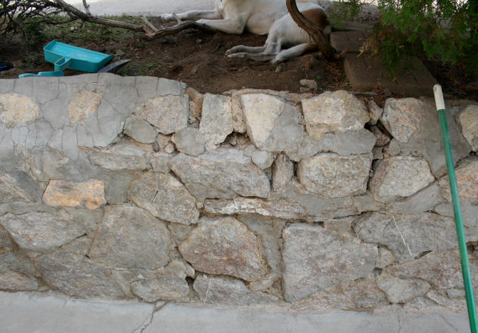 Laurel S Adventures In Home Repair Rock Wall Repair And