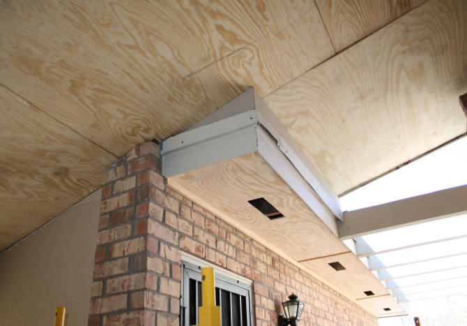 Soffit Area Above Garage Door Where Transitions Go Bad