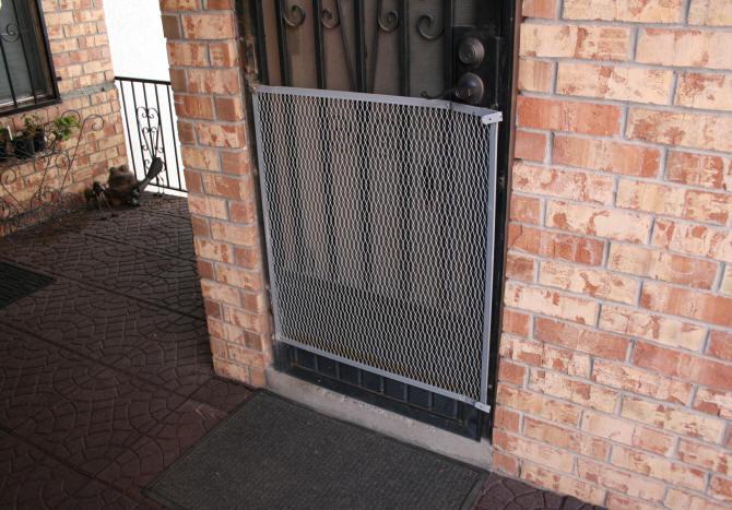 Screen door protector imperial grill closeup sc 1 st for Screen door repair