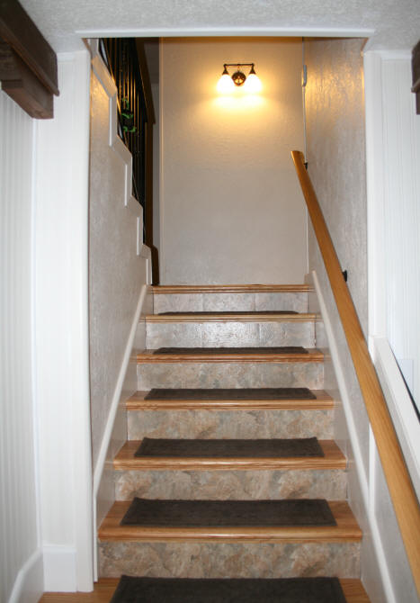 Stair door will be installed on top of third stair and will fold-up in the recessed area on the left & Laurelu0027s Adventures in Home Repair - Stair Door
