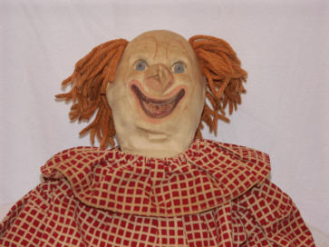 Photo of rare Bozo the Clown cloth doll - head shot